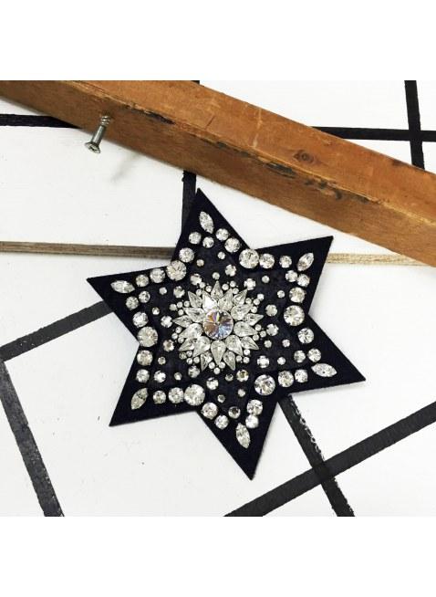 Star brooch (Black×silver)