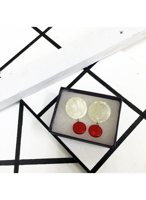 Two-tone Color Pierce (White × red)