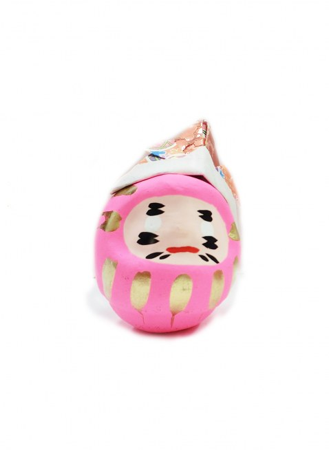 "OMNES × 白河だるま""KABUTO""ピンク"