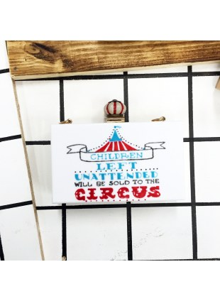 Acrylic Circus Clutch (White)