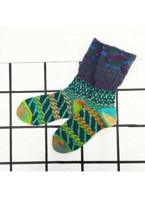 「nonnette」Original Socks (green MIX)