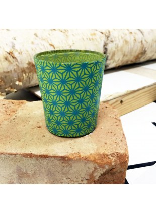 Candle cup (和柄×緑色)