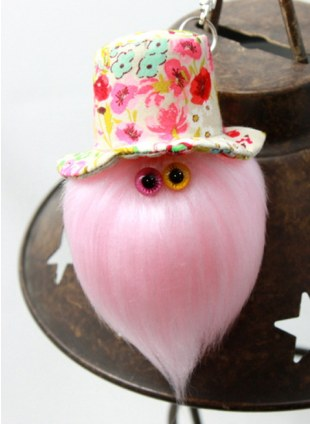 """MAMEDENQ""""モコモコノコ""""かくれウマ柄 (BE) HAT×ペールピンク"""