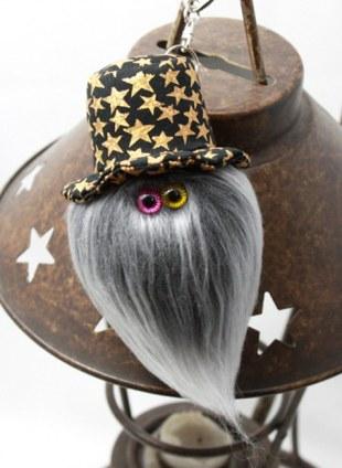 """MAMEDENQ""""mocomoco"""" star pattern (BK×G) HAT× Gray Poodle"""