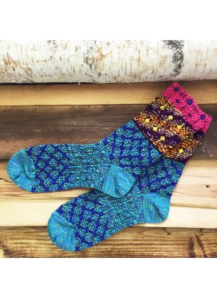 「nonnette」Original Socks (Emerald blue)