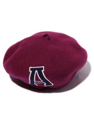 Arikiri  LOGO beret Hat ---deep red