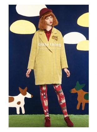 Unlogical Poem-2014FW Jacquard wool coat jacket
