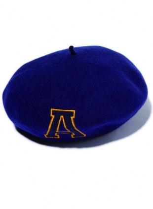 Arikiri  英文字母LOGO貝雷帽 【海藍色】