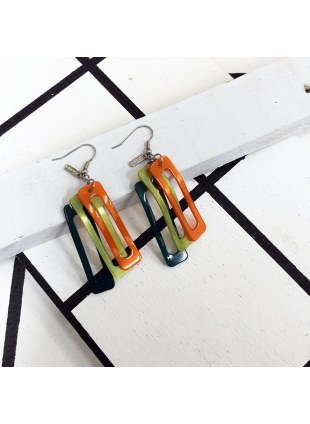 Square Color Pierce (Green × Orange × Yellow)