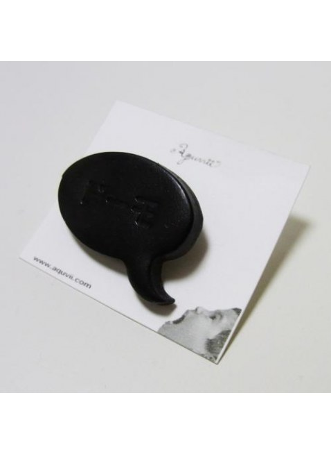 Speech balloon Pins(black)