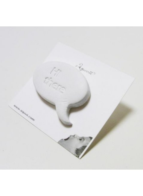 Speech balloon Pins(white)