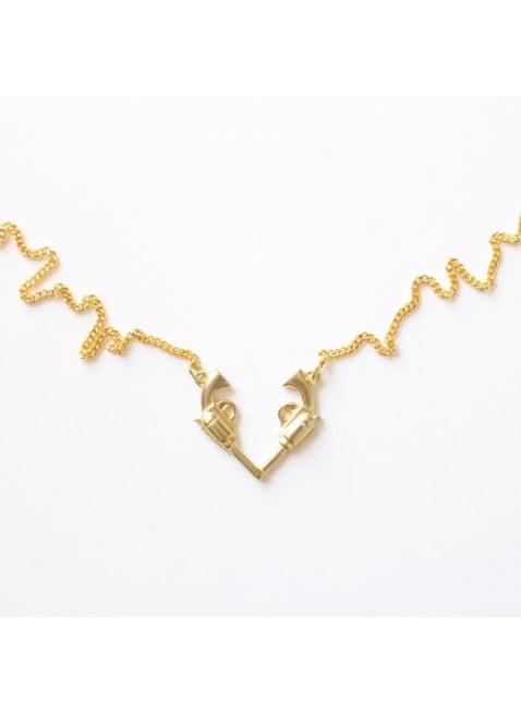 Gun Heart Necklace