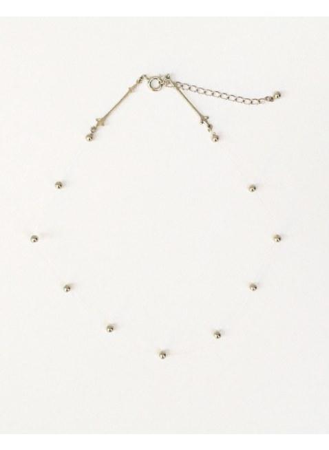Point neckalce-silver-