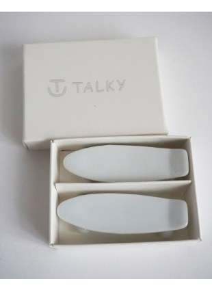 TALKY -skateboard chopstick rest- WHITE