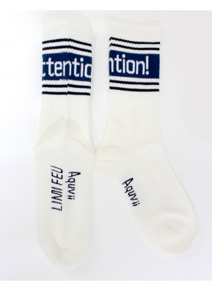 【 LIMIfeu x Aquvii 】attention socks  -シロ-