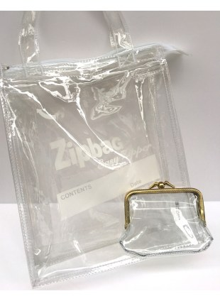 【Special SET】Clear GAMAGUCHI + Zipbag