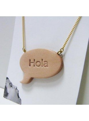 Speech balloon Necklace(tan)