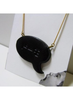 Speech balloon Necklace(black)