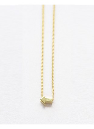 Arrow sign Necklace (Gold横)