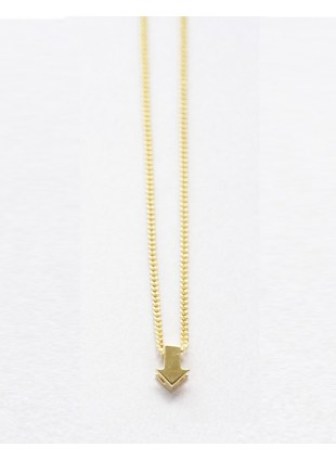 Arrow sign Necklace (gold 縦)