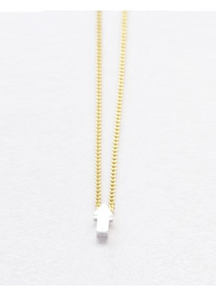 Arrow sign Necklace (silver 縦)
