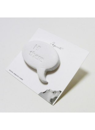 Speech balloon Pierce(white)