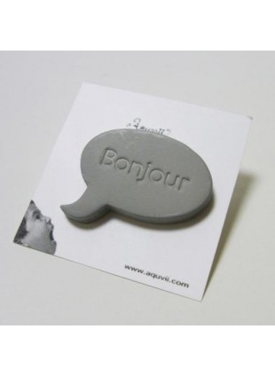 Speech balloon Pins(gray)