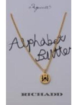 Alphabet Button Necklace (W)