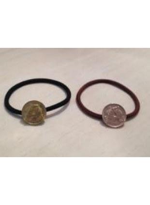 initial coin Hair Ring (A)