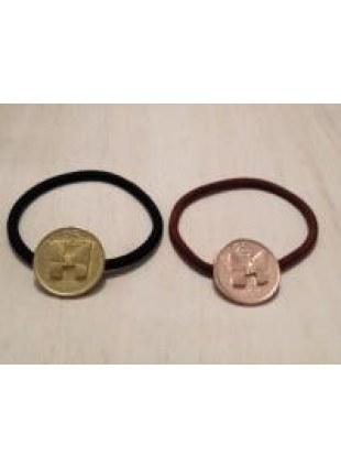 initial coin Hair Ring (H)