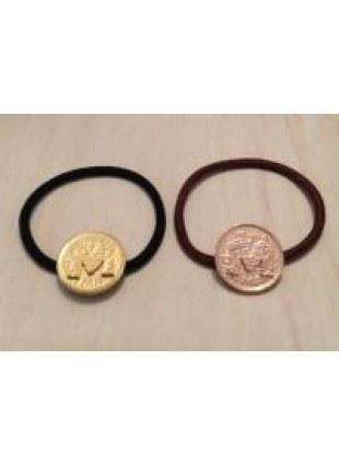 initial coin Hair Ring (M)