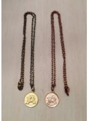 Initial Coin Necklace(A)