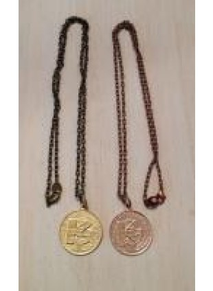 initial coin Necklace(K)