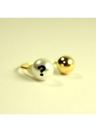 initial pearl 2way ring -?-