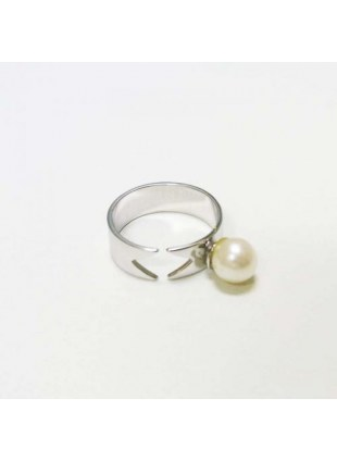 Pearl Ribbon Ring (SILVER)