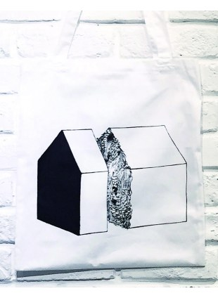 【Msize】AAT POSTER TOTE_切れた家