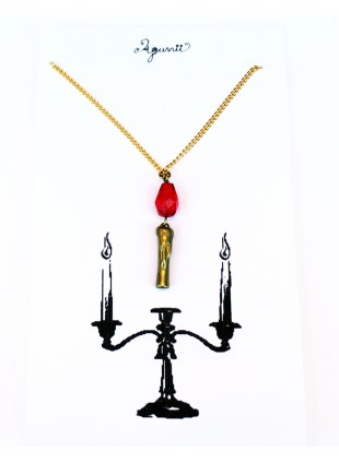 Candle Necklace_Red