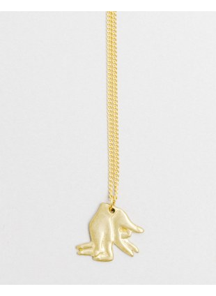Hand Shadow Necklace -rabbit-