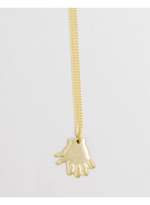 Hand Shadow Necklace -cock-