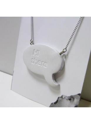 Speech balloon Necklace(White)