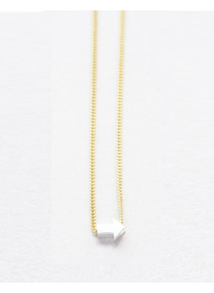 Arrow sign Necklace (silver横)