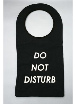 Don't Disturb BAG (blk/big)