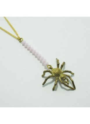 Spider Web Necklace (Pink)