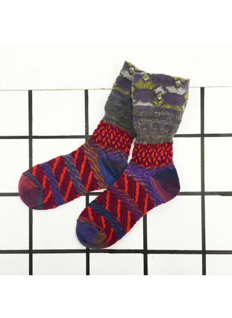 「nonnette」Original Socks (bordeaux MIX)