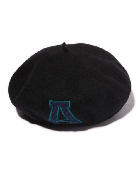 Arikiri  LOGOベレー帽 【black】