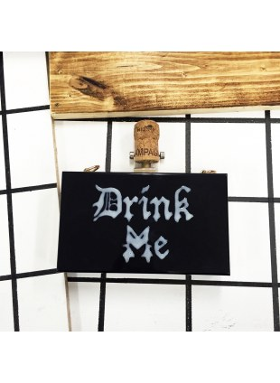 Acrylic DRINK ME Clutch