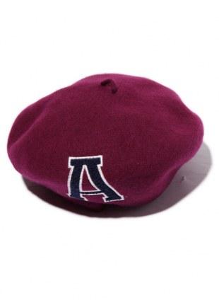 Arikiri  LOGOベレー帽 【エンジ】