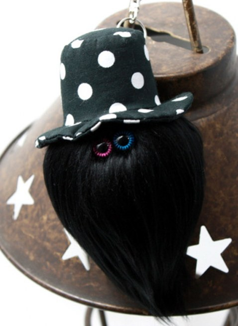 """MAMEDENQ""""mocomoco""""dot pattern (BK×WH) HAT×Black Poodle"""
