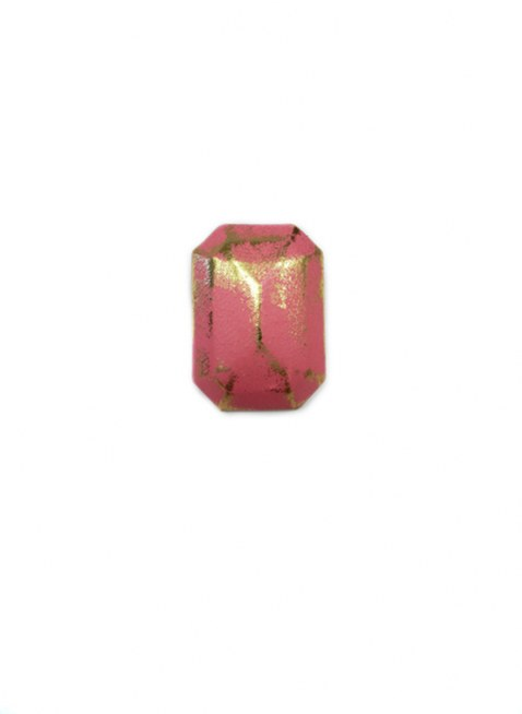Leather Cover Pierce Gold Pink