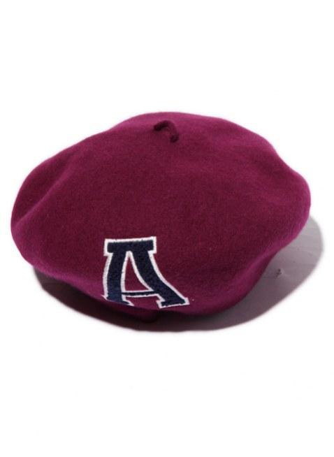 Arikiri  LOGO beret Hat ---deep red